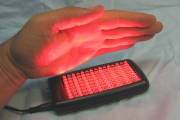 Dual red and infrared LED healing light